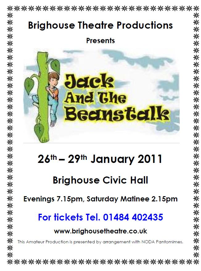 Jack & the Beanstalk - Jan 2011