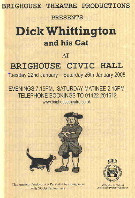 Dick Whittington - January 2008