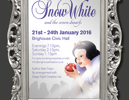 Snow White and the Seven Dwarfs, Snow White, pantomime, Brighouse Theatre Productions